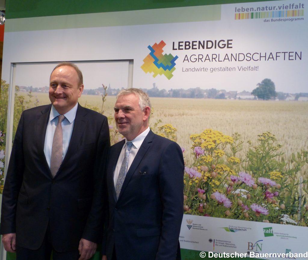 Staatssekretär Flachsbarth und Präsident Rukwied, IGW 2016